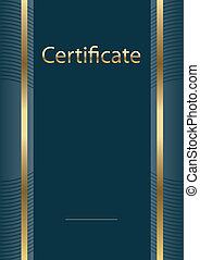 modelo, vacío, certificado