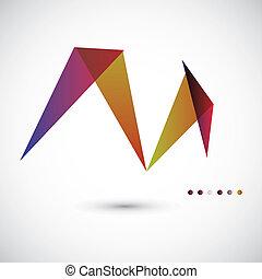 modelo, vetorial, geométrico, abstratos
