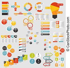 modelos, apartamento, mega, negócio, vecto, cobrança, infographic