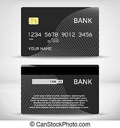 modelos, cartões, desenho, crédito