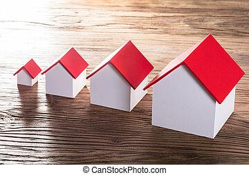 modelos, casa, aumentar, tabla