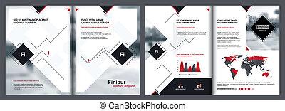 modelos, elementos, revista, modelo, infographics, folheto