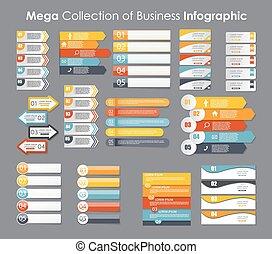 modelos, eps10, illustration., negócio, infographic, vetorial