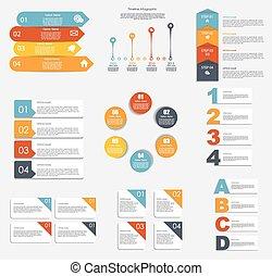modelos, illustra, negócio, cobrança, infographic, vetorial