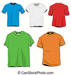 modelos, jogo, camisetas