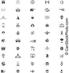 modelos, logotipo, 50, criativo