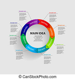 modelos, vetorial, negócio ilustração, infographic