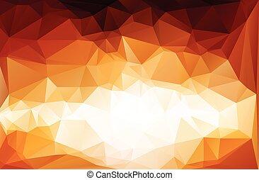modelos, vetorial, vívido, ilustração negócio, polygonal, fundo, desenho, mosaico, vermelho