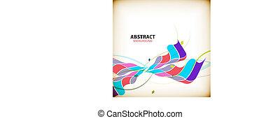modeluje, abstrakcyjny, barwny, tło, machać