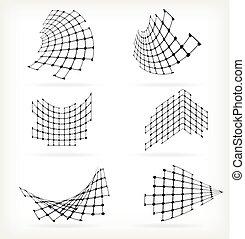modeluje, abstrakcyjny, tło