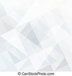 modeluje, abstrakcyjny, triangle, białe tło