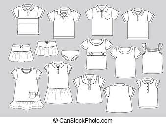 modeluje, część garderoby, 1