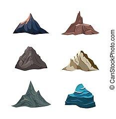 modeluje, różny, góry.