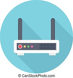 modem vector flat colour icon