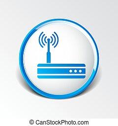 modem, wifi, routeur, sans fil, icône, vecteur, moyeu, ethernet, adsl