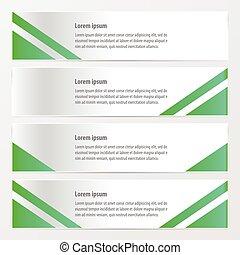 moden banner design green color