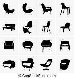 moden, fauteuils