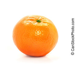 moden, mad, isoleret, frugt, baggrund, hvid, mandarine