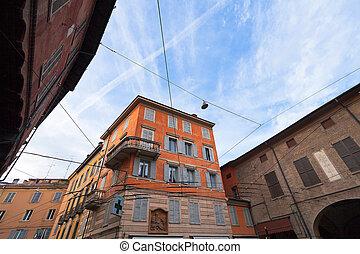 modena, olaszország, középkori, épület