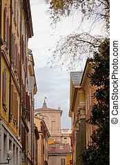 modena, utca, középkori
