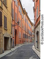 modena, utca, olaszország