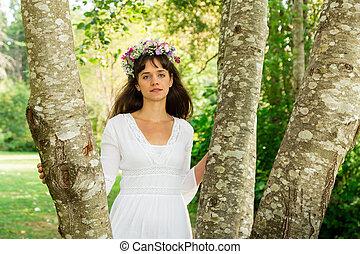moder beskaffenhet, krama, träd
