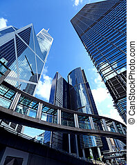 moderní, úřadovna building, do, hongkong