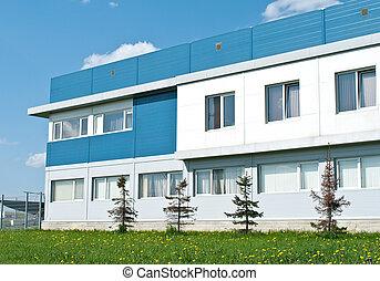 moderní, commercial building