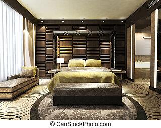 moderní, ložnice