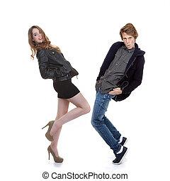 moderní, móda, léta mezi 13 a 19 rokem