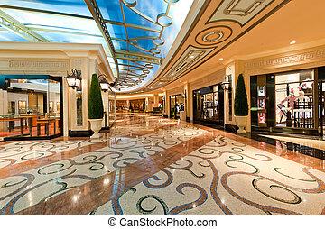 moderní, přepych, shopping mall