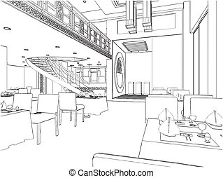 moderní, restaurace