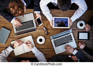 moderní, setkání, povolání
