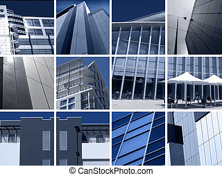 modern építészet, montázs