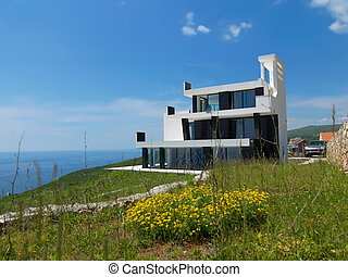 modern, épület
