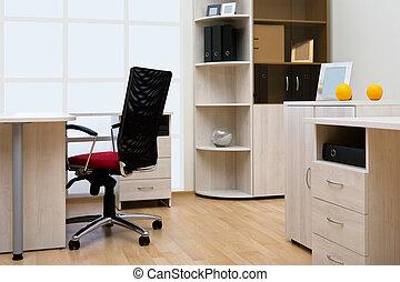 modern, és, fény, hivatal