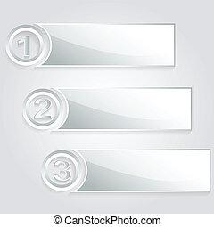 modern 1 2 3 silver banner