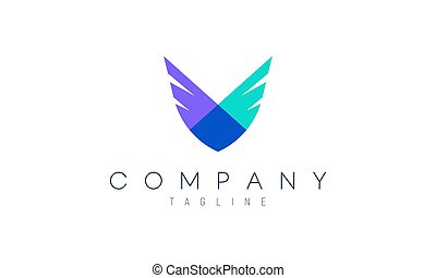 Modern 2 wings vector design concept. Suitable as a logo to represent freedom, courage and happiness.