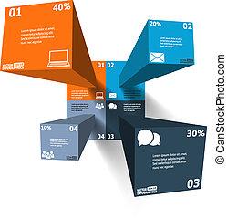 modern, 3, infographics, helyett, háló, szalagcímek, mozgatható, alkalmazásokat, alaprajz, etc., vektor, eps10, ábra