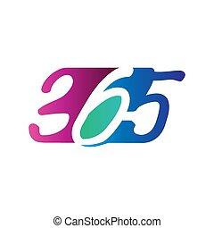 Modern 365 infinity logo icon design illustration vector