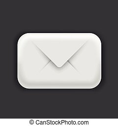 Modern 3d email icon. Post, spam or letter concept.