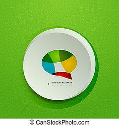 Modern 3d paper speech bubble design