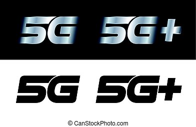 Modern 5G and 5G+ signs