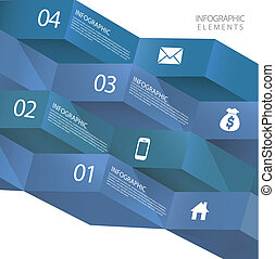 modern abstract 3d origami banner infographic