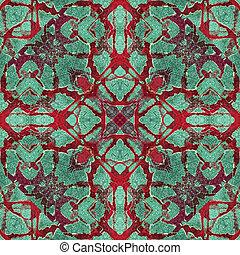 Modern Abstract Arts Crafts Mosaic - Digital art techinque...