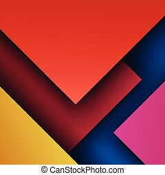modern abstract background. material design with trendy colors.