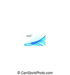 modern abstract blue line wave background