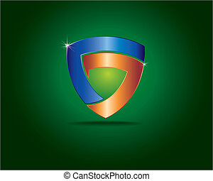 colorful icon - modern abstract business colorful icon on...