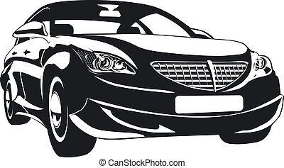 Modern abstract car. Available EPS-8 vector format separated by groups and layers for easy edit