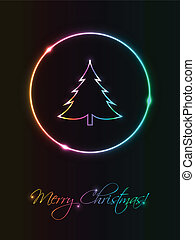Modern abstract Christmas greeting card, eps10 vector illustration